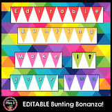 Editable Letter Bunting