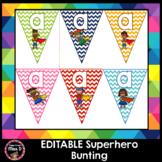 Editable Letter Bunting - Superhero