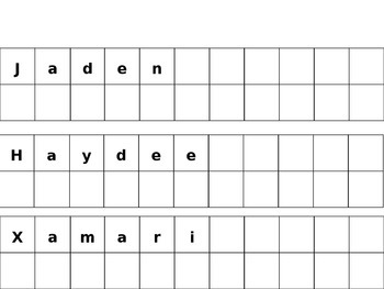 Editable Letter Tile Name Cards