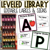 Editable Leveled Library Labels and Signs