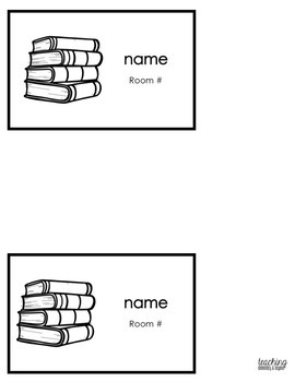 Editable Library Bag Labels