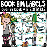 Editable Library Book Bin Labels