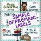 Editable Library Book Bin Labels