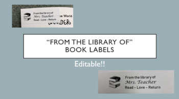 Editable Library Book Labels