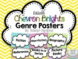 Editable Library Genre Posters
