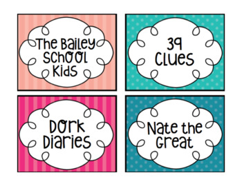 Editable Library Labels (includes labels sized for Target Adhesive Pockets)
