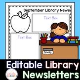 Library Newsletter Templates Editable