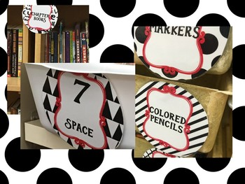 Editable Library and Classroom Supply Tags