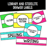 Editable Library and Sterilite Drawer Labels