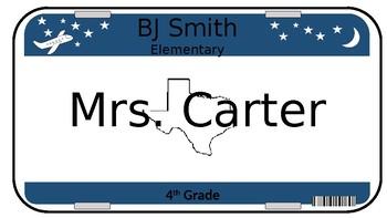 Editable License Plate