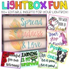 Editable Light Box Designs Set #1 (Bundle of Inserts for Standard Size Lightbox)