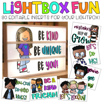 Editable Light Box Designs Set #5 | Standard Size Lightbox | Classroom Decor