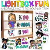 Editable Light Box Designs Set #5 | Standard Size Lightbox | Classroom Decor