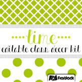 Editable Lime Class Decor Kit