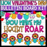 Lion Valentines Day Bulletin Board Kit (3 Designs Included