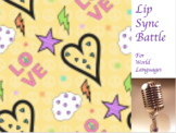 Editable Lip Sync Battle For World Languages (Distance Learning)