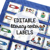 Editable Literacy Center Labels