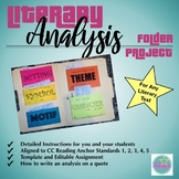Editable Literary Analysis Folder Project for use with ANY