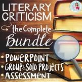 Literary Criticism Unit Bundle   Editable Lessons, Test, G