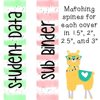 Editable Llama Binder Covers and Spines