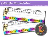 Editable Llama Name Plates