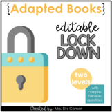 Editable Lock Down Drill Adapted Books [ Level 1 and Level