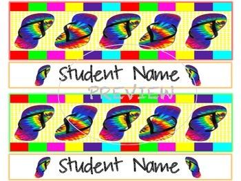 Editable Locker Name Tags