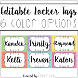 Editable Locker Tags