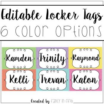 Editable Locker Tags