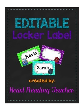 Editable Locker and Cubby Labels