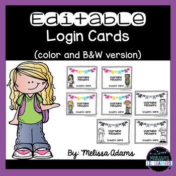 Editable Login Cards