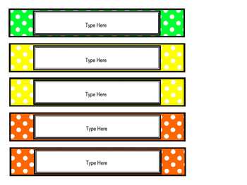 Editable Long Labels  **Fit Target Dollar Spot Label Sleeves**