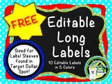 Editable Long Labels  **Fit Target Dollar Spot Label Sleeves**
