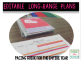 LIFETIME USE & UPDATES Editable Long Range Plans