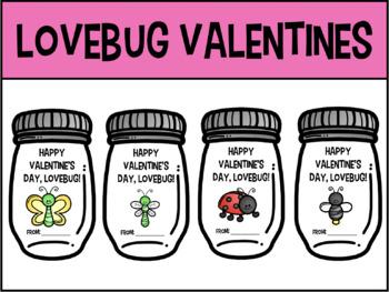 Editable Lovebug Valentines