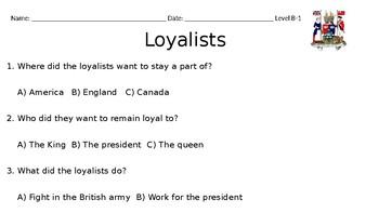 Editable Loyalist Powerpoint or MiniBook