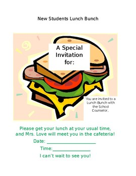 Editable Lunch Bunch Invitation