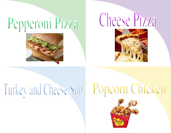 Editable Lunch Cards in Word