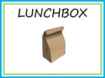 Editable Lunch Choice Clip Chart - Lime & Aqua