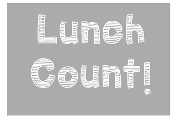 Editable Lunch Count Chart