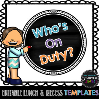 Editable Lunch and Recess Duty Schedule Templates