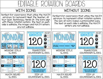 Editable M.A.T.H. Workshop Digital Rotation Board