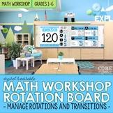 Math Workshop Digital Rotation Board for Transitions & Cla