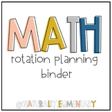 Editable M.A.T.H. Workshop Planning Binder