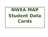 Editable MAP Student Data Cards