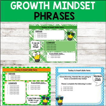 Editable MARCH Themed Morning Work PowerPoint Templates