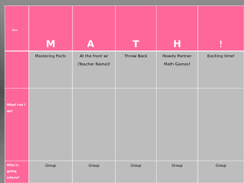 Editable MATH! Stations