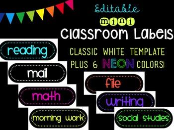Editable MINI Classroom Labels