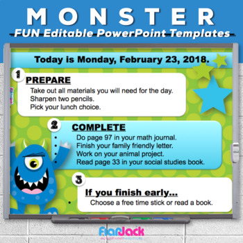 Editable MONSTER PowerPoint Templates