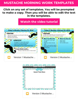 Editable MUSTACHE GOOGLE SLIDES Templates